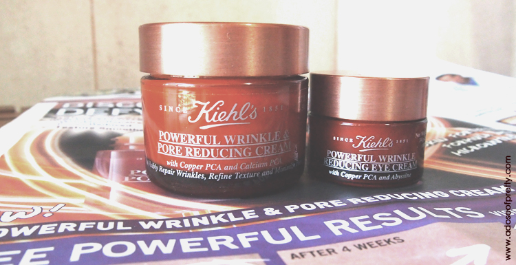 kiehls, kiehls powerful wrinkle pore reducing cream, moisturiser, kiehls powerful wrinkle reducing eye cream, eye cream, anti-wrinkle, anti-ageing, review